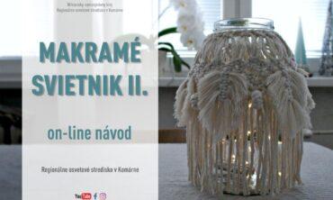 Makramé svietnik II.